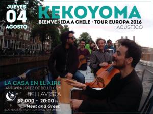 Bienvenida a Chile, Tour Europa jueves 4 de agosto