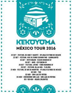 Gira México 2016 Arenga-K
