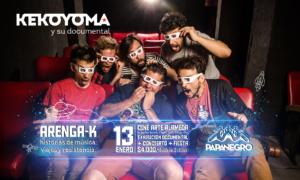 """KekoYoma y PapaNegro tocan para el estreno en cine de su documental """"Arenga K"""" + una fiesta post show en el legendario Cine Arte Alameda (Plaza Italia)"""